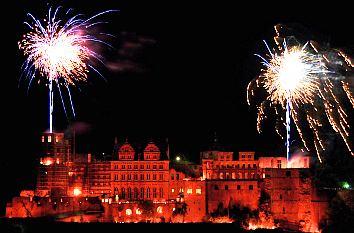 Quermania - Schlossbeleuchtung Heidelberg 2020 - Feuerwerk