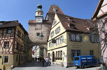 Rothenburg ob der Tauber in Bayern