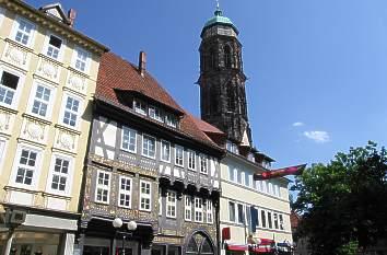 Quermania weender stra e mit kirchturm st jacobi for Hotels in gottingen und umgebung