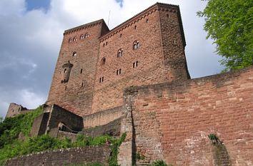 Die ehemalige Feste Trifels Reichsburg Pfälzerwald Annweiler Holzstich E 24192